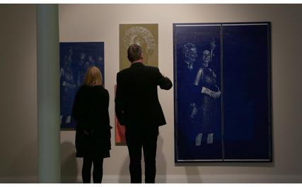 Highlanes Gallery - couple at exhibition