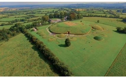 Knowth - aerial