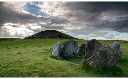 Loughcrew Cairns and standing stones